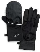 Перчатки для бега Saucony 2020-21 Fortify Convertible Gloves / SAU900005 (M, Black) -
