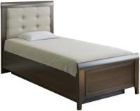 Односпальная кровать Лером Карина КР-1035-АТ 90x190 (акация молдау) -