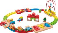 Железная дорога игрушечная Hape Железная дорога. Радужная головоломка / E3826-HP -