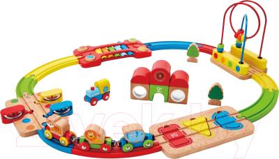 Железная дорога игрушечная Hape Железная дорога. Радужная головоломка / E3826-HP