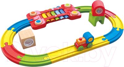 Железная дорога игрушечная Hape Сенсорная железная дорога / E3822-HP