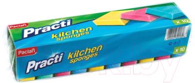Набор губок для мытья посуды Paclan Kitchen Sponge (10шт)