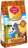 Корм для птиц Родные корма Для волнистых попугаев с фруктами (500г) -