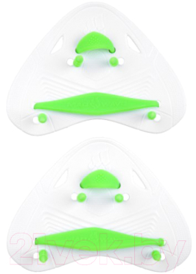 Лопатки для плавания Mad Wave Finger Pro (белый)