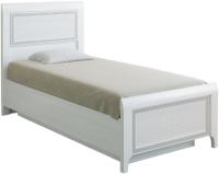 Односпальная кровать Лером Карина КР-1025-СЯ 90x190 (снежный ясень) -