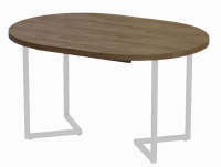 Обеденный стол Millwood Лофт Лондон Л D100 / 100-140x100x76 (дуб табачный Craft/металл белый) -