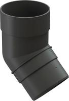 Колено для водостока Docke Premium 45 градусов (графит) -