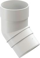 Колено для водостока Docke Premium 45 градусов (пломбир) -