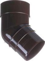 Колено для водостока Docke Premium 45 градусов (шоколад) -