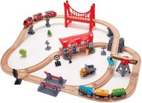 Железная дорога игрушечная Hape Город / E3730-HP -