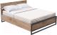 Двуспальная кровать Millwood Neo Loft КМ-4.6/L (дуб табачный/металл черный) -