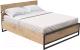 Двуспальная кровать Millwood Neo Loft КМ-4.6/L (дуб золотой/металл черный) -