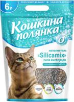 Наполнитель для туалета Кошкина Полянка Silicamix Сила кислорода / 0428 (6л) -