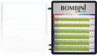 Ресницы для наращивания Bombini Holi D-0.1-mix (6 линий, зеленый) -