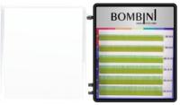 Ресницы для наращивания Bombini Holi C-0.1-mix (6 линий, зеленый) -
