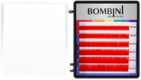 Ресницы для наращивания Bombini Holi D-0.1-mix (6 линий, красный) -