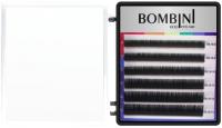 Ресницы для наращивания Bombini Holi D-0.07-mix (6 линий, черно-зеленый) -