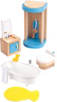 Комплект аксессуаров для кукольного домика Hape Ванная комната / E3451-HP -