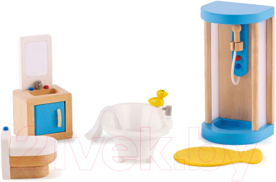 Комплект аксессуаров для кукольного домика Hape Ванная комната / E3451-HP