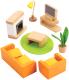 Комплект аксессуаров для кукольного домика Hape Гостиная / E3452-HP -
