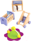 Комплект аксессуаров для кукольного домика Hape Комната для малыша / E3459-HP -