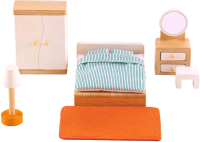 Комплект аксессуаров для кукольного домика Hape Спальня / E3450-HP -