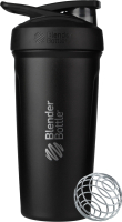 Шейкер спортивный Blender Bottle Strada Stainless Steel Full Color / BB-STSS-FCBL (черный) -