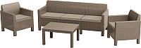Комплект садовой мебели Keter Orlando 3 Sofa Set / 226525 (капучино) -