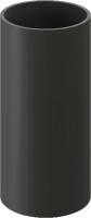 Труба водостока Docke Premium (1м, графит) -