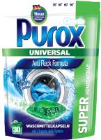 Капсулы для стирки Purox Universal для белых и цветных (30шт) -