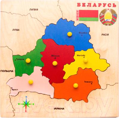 Развивающая игрушка ЛЭМ Рамка-вкладыш. Карта Беларуси / 5028