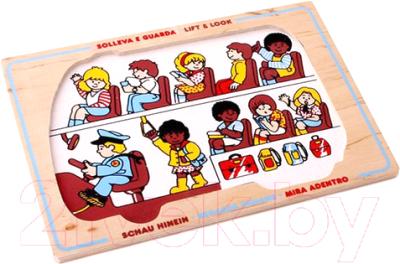 Развивающая игрушка ЛЭМ Рамка-вкладыш. Школьный автобус / 1426 недорого