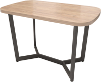 Обеденный стол Millwood Лофт Мюнхен 200x100x75 (дуб табачный Craft/металл черный) -