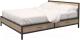 Двуспальная кровать Millwood Neo Loft КМ-3.6 208х182х93 (дуб золотой Craft/металл черный) -