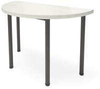 Обеденный стол Millwood Далис 3 60х120-110х76 (дуб белый Craft/металл черный) -
