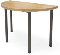 Обеденный стол Millwood Далис 3 60х120-110х76 (дуб золотой Craft металл черный) -