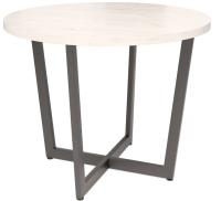 Обеденный стол Millwood Лофт Орлеан D100x75 (дуб белый Craft/металл черный) -