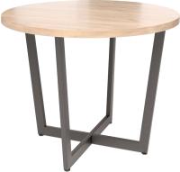 Обеденный стол Millwood Лофт Орлеан Л D100x75 (дуб табачный Craft/металл черный) -