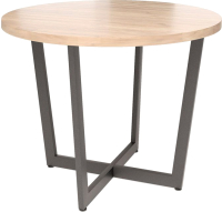 Обеденный стол Millwood Лофт Орлеан D110x75 (дуб табачный Craft/металл черный) -