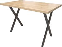 Обеденный стол Millwood Лофт Хьюстон120x70x75 (дуб золотой Craft/металл черный) -