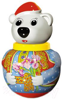 Развивающая игрушка Stellar Неваляшка. Белый медведь Тема / 01739
