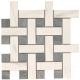 Декоративная плитка Zeus Ceramica I Сlassici Mosaico Calacatta Плетенка MMCXMC18В (300x300) -
