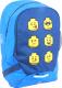 Школьный рюкзак Lego Faces / 10048-2006 (голубой) -