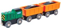 Железная дорога игрушечная Hape Дизельный грузовой поезд / E3718-HP -