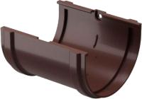 Соединитель желобов Docke Premium (шоколад) -