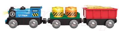 Поезд игрушечный Hape Товарный поезд на батарейках / E3720-HP