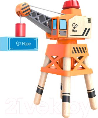 Кран игрушечный Hape Большой стреловой кран / E3715-HP