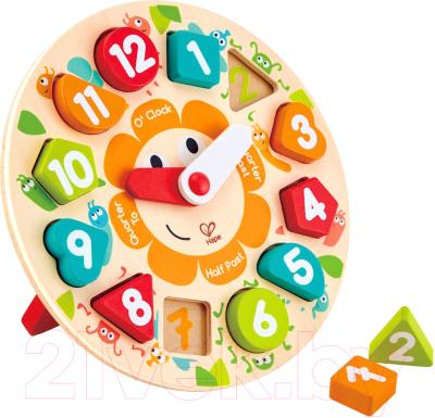 Развивающая игрушка Hape Головоломка-мозаика с часами / E1622-HP