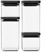 Набор контейнеров Brabantia Tasty+ / 122422 (4шт, серый) -