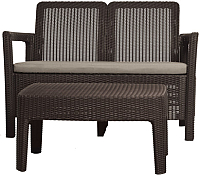 Комплект садовой мебели Keter Tarifa Sofa + Table / 228168 (коричневый) -